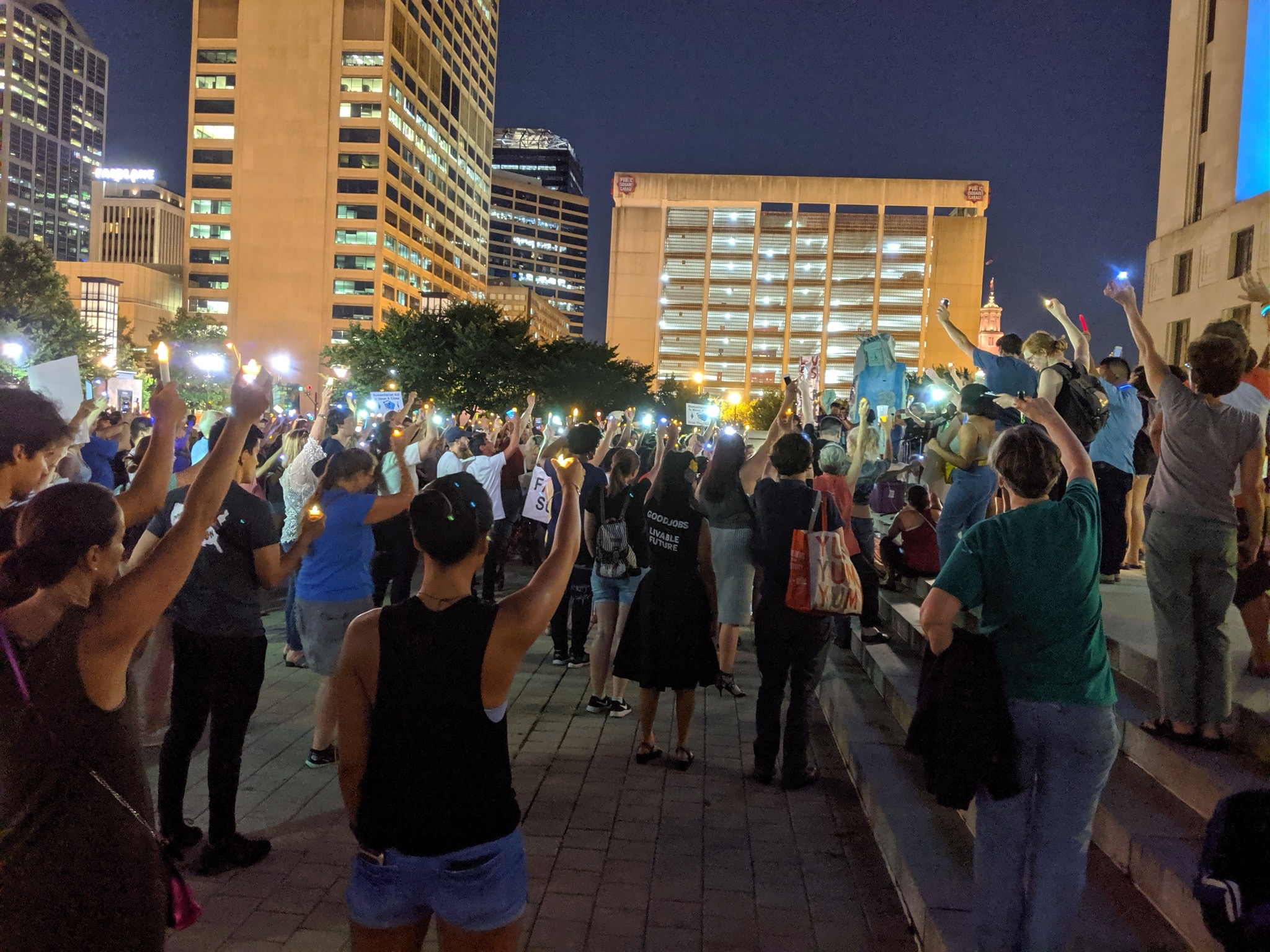 Lights for Liberty Vigil, Nashville, TN 7/12/19 Photo credit: Kaitie Gordon